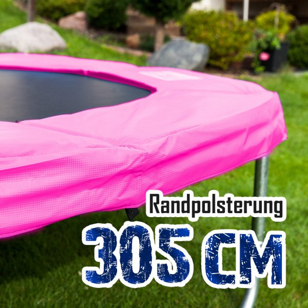 Randabdeckung für 305cm Trampolin, Pink