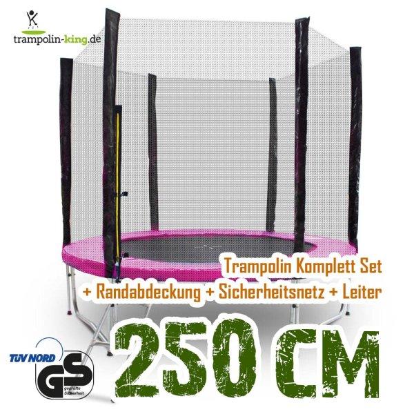Trampolin 250cm Randabdeckung Pink
