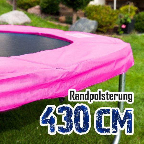 Randabdeckung für 430cm Trampolin, Pink