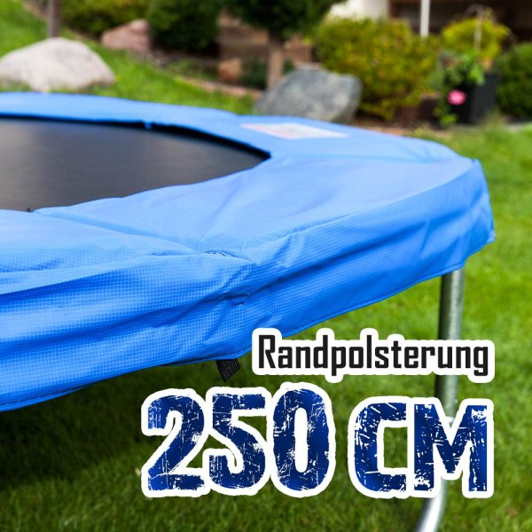 Randabdeckung für 250cm Trampolin, Blau