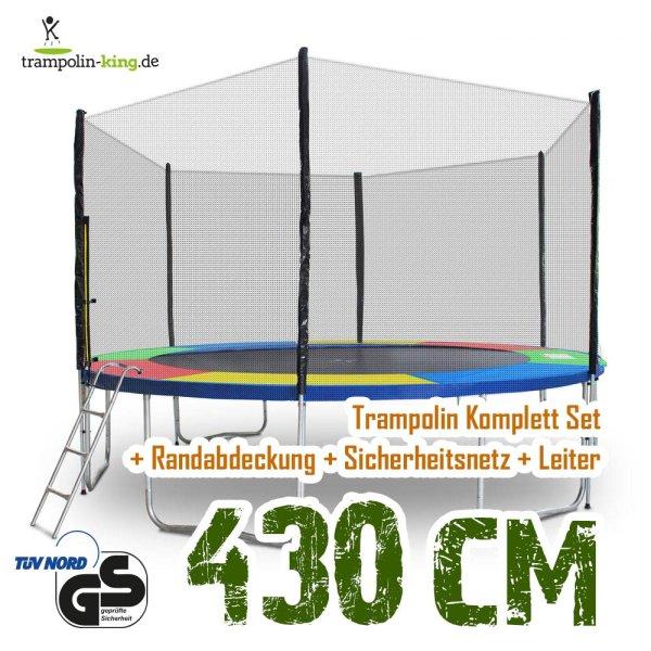 Trampolin 430cm Randabdeckung Bunt