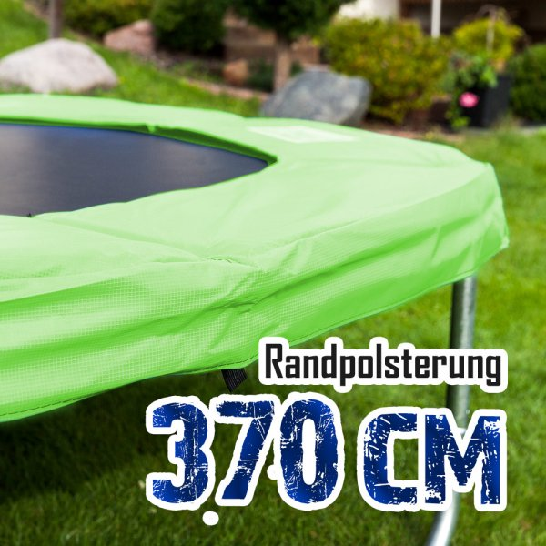 Randabdeckung für 370cm Trampolin, Hellgrün