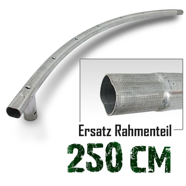 Rahmenteil für Trampolin 250cm (8ft) / 125cm / 3,8cm / 7