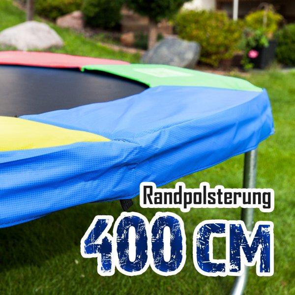 Randabdeckung für 400cm Trampolin, Bunt