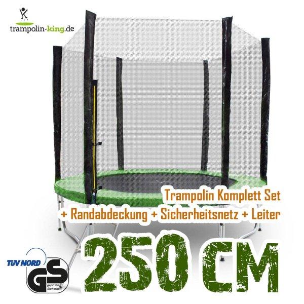 Trampolin 250cm Randabdeckung Hellgrün
