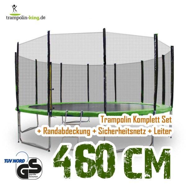 Trampolin 460cm Randabdeckung Hellgrün