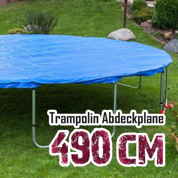 Abdeckplane für 490cm Trampolin, blau