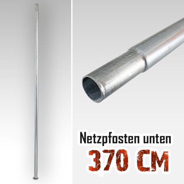 Unterer Netzpfosten für Trampolin 370cm bis 490cm / 135,5cm (mit Verjüngung)