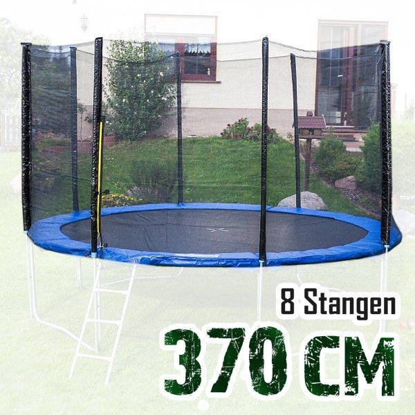 Sicherheitsnetz für 370cm Trampolin, ohne Pfosten für 8 Stangen