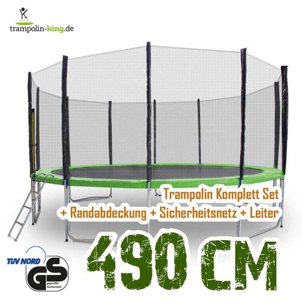 Trampolin 490cm Randabdeckung Hellgrün