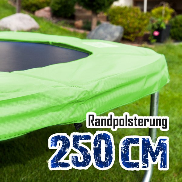 Randabdeckung für 250cm Trampolin, Hellgrün