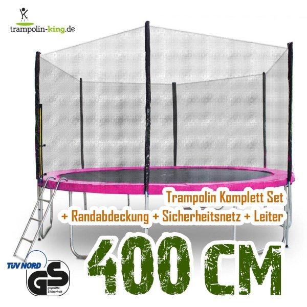 Trampolin 400cm Randabdeckung Pink
