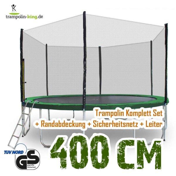 Trampolin 400cm Randabdeckung Dunkelgrün
