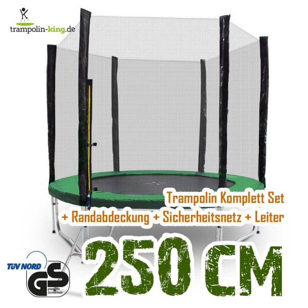 Trampolin 250cm Randabdeckung Dunkelgrün