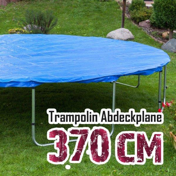 Abdeckplane für 370cm Trampolin, blau
