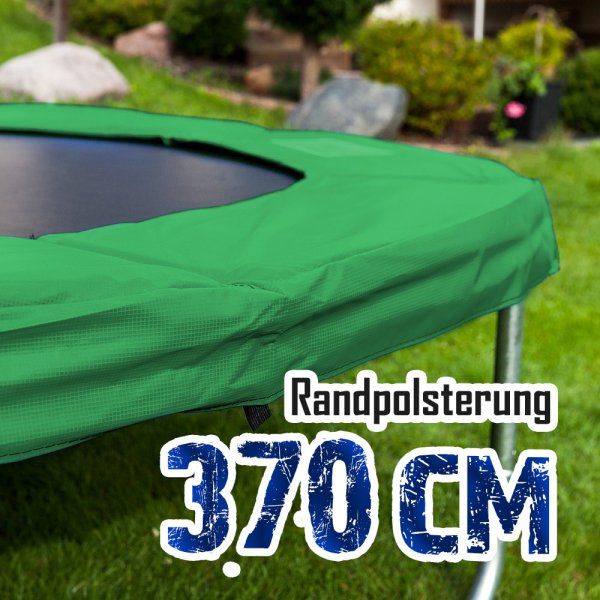 Randabdeckung für 370cm Trampolin, Dunkelgrün