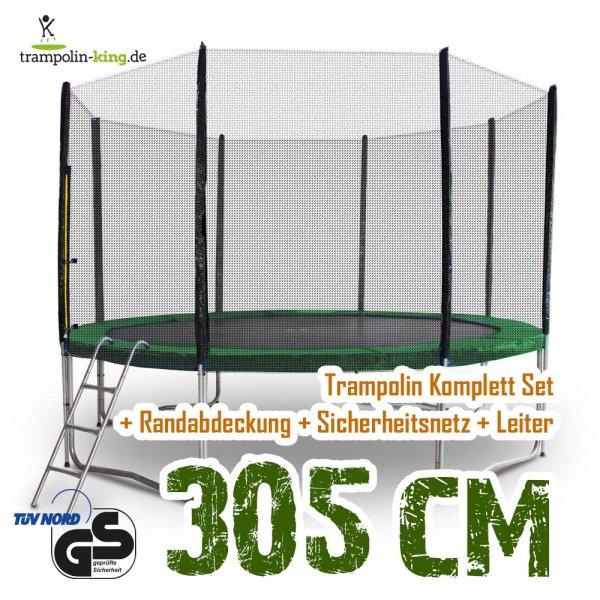 Trampolin 305cm Randabdeckung Dunkelgrün