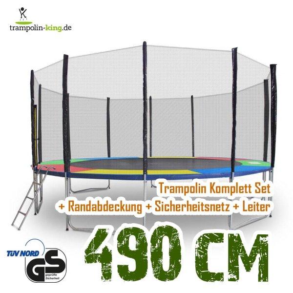 Trampolin 490cm Randabdeckung Bunt
