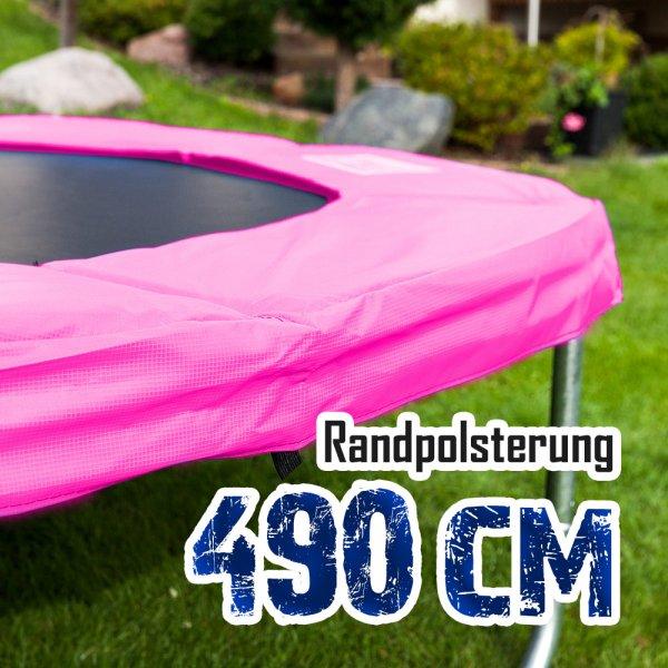 Randabdeckung für 490cm Trampolin, Pink