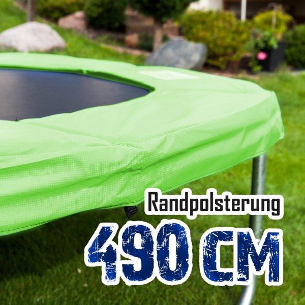 Randabdeckung für 490cm Trampolin, Hellgrün