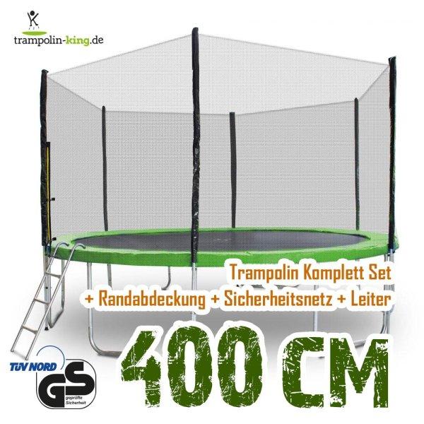 Trampolin 400cm Randabdeckung Hellgrün