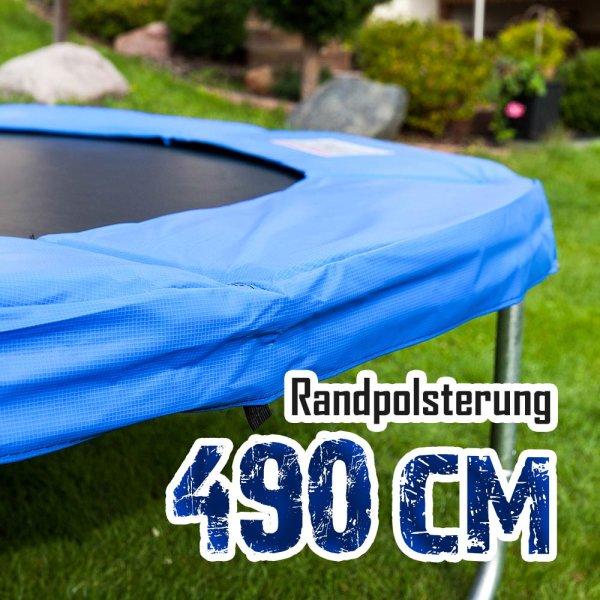 Randabdeckung für 490cm Trampolin, Blau