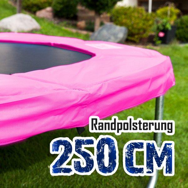 Randabdeckung für 250cm Trampolin, Pink