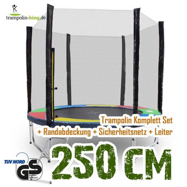 Trampolin 250cm Randabdeckung Bunt